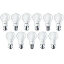 11x Philips LED Frosted B22 60w Warm White Bayonet Cap Light Bulbs Lamp 806 Lm