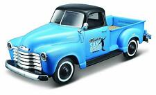*NEW* Chevrolet 3100 Pick-up (1950) Outlaws 1:25 Scale Blue/Black Diecast Car