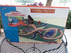 Vintage Britt Allcroft Thomas Train Wooden Tracks Instant System No 3 Play Set