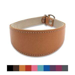 Dog Collar, Hound Leather Slip Collar. Whippet, Greyhound, Lurcher 10 Colours