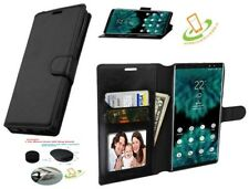 BLACK Wallet Case For LG Q7 Q7+ Leather Flip Magnetic Protector Cover Pouch Hook