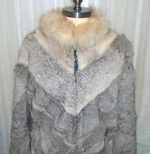 Vintage Retro Shabby Chic Leather & Mink Fur Schlampps Minneapolis Coat