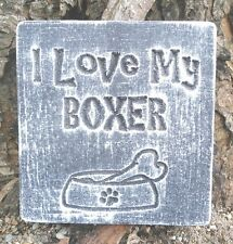I love my boxer concrete plaster reusable abs plastic mold