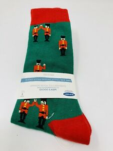 Men's Socks Crew Tube, Solider, Green & Red, 58% Cotton, One Size, Old Navy