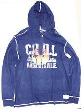 NWT - MARGARITAVILLE Men's JIMMY BUFFETT Blue 1/4 ZIP LIGHTWEIGHT HOODIE - XXL