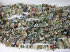 India 100% Natural Multiple Gemstones Chip Bead Crystal Strand 36""