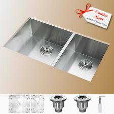 Undermount Double Kitchen Sink Stainless Steel Kitchen Sink 60/40 Sink, KUS3218D