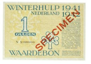 Netherlands - 1 Gulden Banknote - 'Winterhulp Waardebon' - 1941 - XF