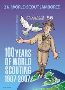 St. Vincent 2007 - SC# 3558 Boy Scout Centenary, Jamboree - Souvenir Sheet - MNH