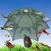 Fishing Bait Trap Crab Net Crawdad Shrimp Cast Dip Cage Fish Minnow Foldable CH