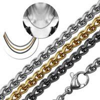 Edelstahl Halskette Ø 2,5mm Panzerkette Für Kettenanhänger Golden Silbern Unisex