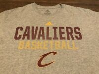 Cleveland Cavaliers Cavs Basketball NBA adidas Medium Gray T Shirt