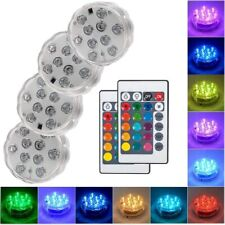 Underwater LED RGB Disco Lights Remote Control Submersible Night Garden Pool 10