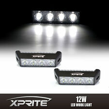 "2x 12W 5.5"" 4 LED Side DRL Daytime Running Spot Fog Light Eagle Eye White 6000k"
