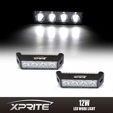 """2x 12W 5.5"""" 4 LED Side DRL Daytime Running Spot Fog Light Eagle Eye White 6000k"""