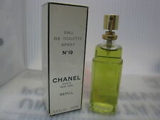 ** ORIGINAL ** No.19 CHANEL 3.4 oz / 100 ML Eau De Toilette Refill Spray Sealed