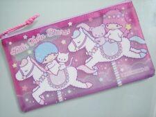 2015 Sanrio Little Twin Stars Glitter Multipurpose Bag Pencil Bag Pouch Mesh P+P