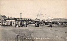 Birkenhead. Approach to Ferry # 56886 by Valentine's. Tram & Station.