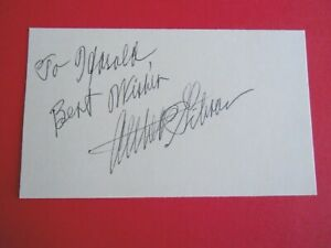 "Althea Gibson - Autographed 3"" X 5"" Index Card - tennis player"