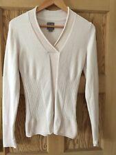 adidas adiPURE Ladies Golf Stretch Knit Quality Sweater / Jumper Cream Size 10