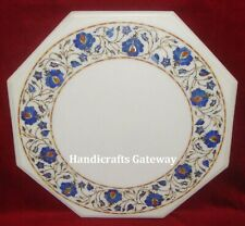 Marble Marquetry Work Coffee Table Top, Decorative Center Marble Table Top