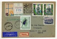 A1144) POLAND GLIDERS 1962 Zacopane Radom Buffalo NY