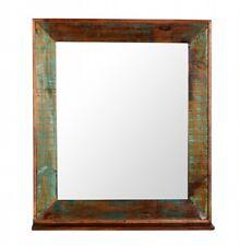Markenlose Deko Spiegel aus Holz mit Ablage fürs Badezimmer günstig
