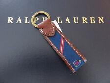 Polo RALPH LAUREN Leather Crest Polo Pony FOB Key Chain Keychain Keyring
