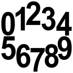 10 Aufkleber Tattoo 20cm schwarz Zahl Zimmer Haus Tür Spind Start Nummer Ziffer