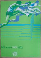 Poster Plakat Hürdenlauf Otl Aicher Olympiade München 1972