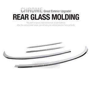 Rear Window Glass Chrome Molding Trim Garnish Cover for HYUNDAI 13-17 Santa Fe