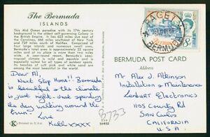 Mayfairstamps Bermuda Paget to Lenkurt Electronics Post Office Postcard wwp_6451