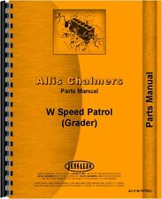 Allis Chalmers W PATROL Grader Parts Manual AC-P-W PATROL