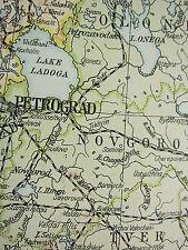 1919 grande carte Russie ~ ~ Finlande estonie Petrograd Pologne Lituanie Arménie