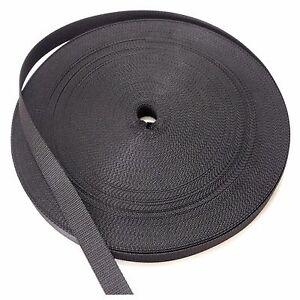 Pro Shutters Webbing Black Band Strap Roller 0 9/16in Winder Roller Blind Cord