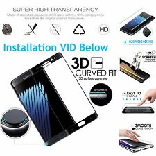 Black Full Curved 3D Tempered Glass Screen Protector For Samsung Galaxy Note 7