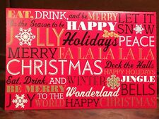 New Holiday Christmas Card Set of 7 With Envelopes 5 x 7 Inch Happy Peace Modern