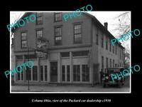 OLD LARGE HISTORIC PHOTO OF URBANA OHIO, THE PACKARD CAR DEALERSHIP c1930