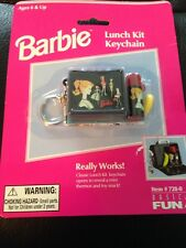 1999 Barbie Lunch Kit Keychain #728-0 New in package Basic Fun