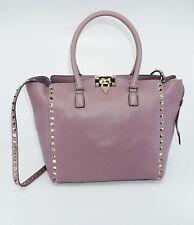 Valentino Garavani Women's Rockstud - Alce Leather Tote, Dark Mauve, MSRP $2,695