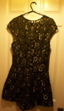 Topshop *BRAND NEW* Size 8 Black/Gold Lace Lined Party Tunic (Dress/shorts)