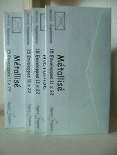 LOT 60 enveloppes AGRAY PAPIERS 110 x 220 mm Métallisé AQUAMARINE M01124/20