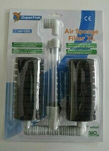 Airlift-Schwammfilter für mittelgroße Aquarien
