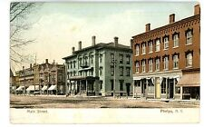 Phelps NY - STORE FRONTS ON MAIN STREET - Postcard