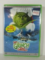 Dr Seuss How the Grinch Stole Christmas DVD ~ 2001 Widescreen Edition Jim Carrey