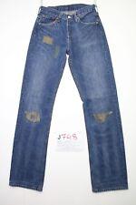 Levi's 501 détruit Cod.J748 Taille 42 W28 L34 jeans d'occassion femme raccourci
