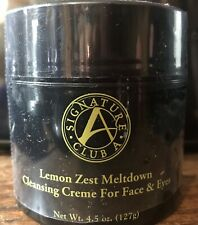 Signature Club A Lemon Zest Meltdown Cleansing Creme for Face & Eyes 4.5 oz
