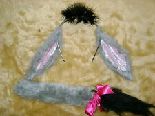 Winnie-The-Pooh Eeyore Donkey Ears And Tail Fancy Dress Kids & Adults One Size