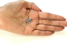 .925 STERLING SILVER ELEPHANT PENDANT WITH ANTIQUE FINISH J 436