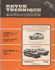 REVUE TECHNIQUE AUTOMOBILE 363 RTA 1977 VOLKSWAGEN POLO AUDI 50 CITROEN GS